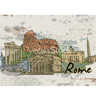 Free rome doodles vector - Free vector #261007