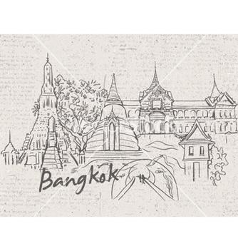 Free bangkok doodles vector - Free vector #261157