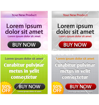 Free glossy web banners set vector - Kostenloses vector #261617
