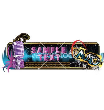Free music banner vector - Kostenloses vector #261827