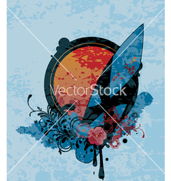 Free grunge summer vector - Kostenloses vector #262137