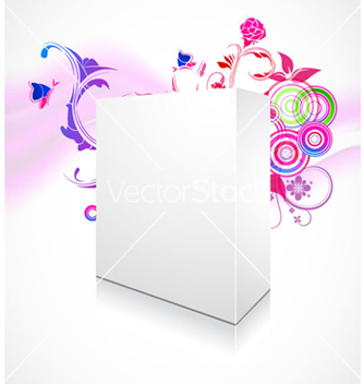 Free 3d blanck box with floral background vector - Kostenloses vector #262157
