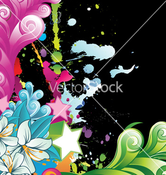 Free watercolor floral background vector - Free vector #262537