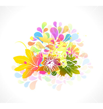 Free colorful floral vector - Free vector #262627