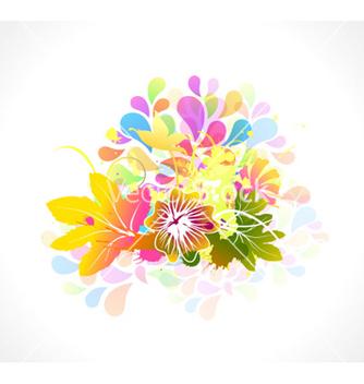 Free colorful floral vector - Kostenloses vector #262627