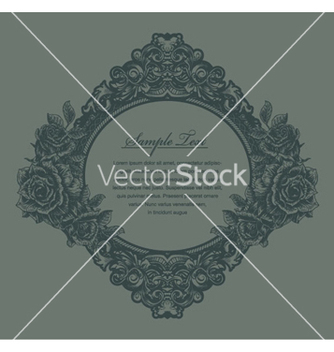 Free vintage floral frame with roses vector - Kostenloses vector #262667