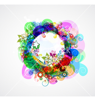Free colorful abstract frame vector - Free vector #262757