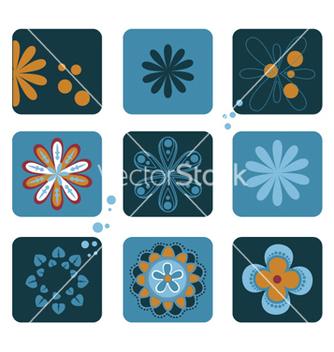 Free retro floral vector - vector gratuit #262957