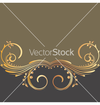 Free gold floral background vector - Free vector #262977