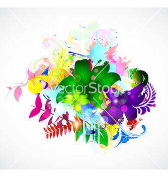 Free colorful floral vector - Kostenloses vector #263077
