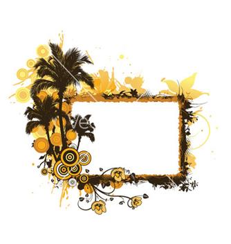Free summer grunge floral frame vector - Free vector #263107