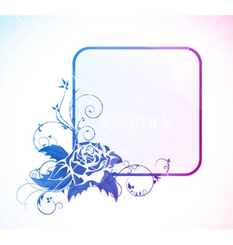 Free abstract colorful floral frame vector - Free vector #263497