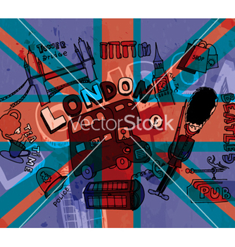 Free london doodles with grunge background vector - Kostenloses vector #263607