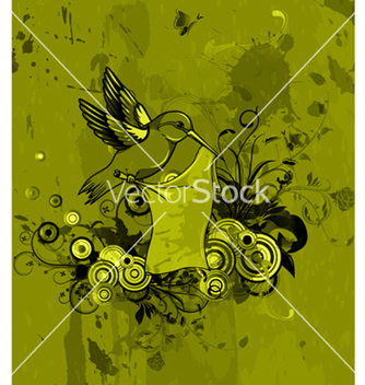 Free abstract bird with floral background vector - Kostenloses vector #264057