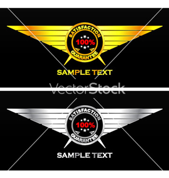 Free gold and silver vintage emblem vector - Free vector #264117