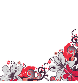 Free retro floral vector - vector gratuit #264447