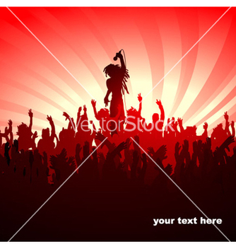 Free abstract music poster vector - Free vector #264817