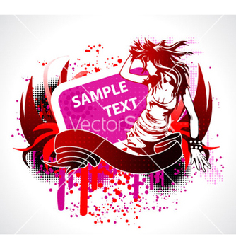 Free abstract music poster vector - Free vector #264847