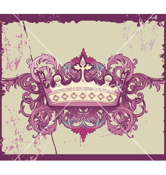 Free grunge crown vector - бесплатный vector #264967