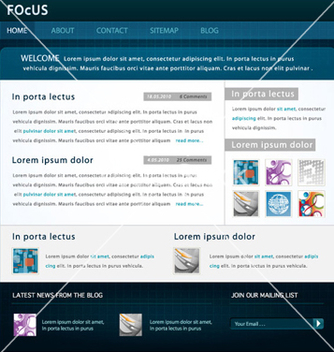 Free modern website template vector - Kostenloses vector #265047