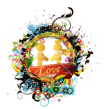 Free colorful valentines emblem vector - Kostenloses vector #265107