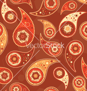 Free paisley seamless pattern vector - Kostenloses vector #265197