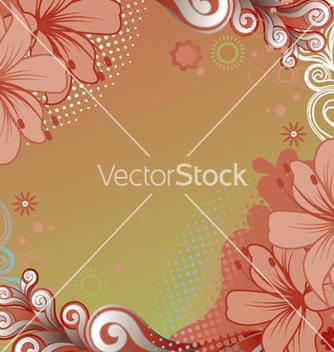 Free retro floral vector - vector gratuit #265347