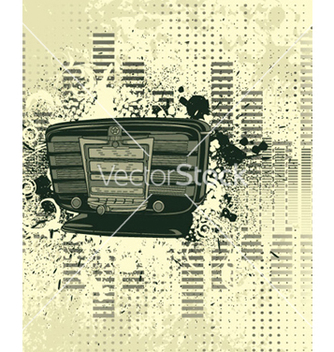 Free old radio with grunge background vector - vector gratuit #265487