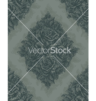 Free vintage seamless floral wallpaper vector - Kostenloses vector #265587