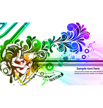 Free colorful concert poster vector - Free vector #265617