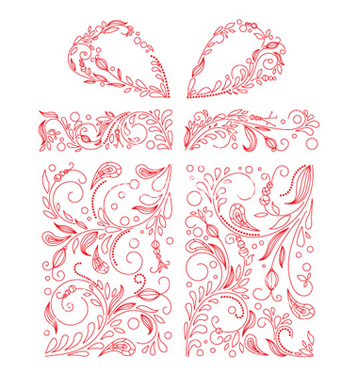 Free gift box made of floral vector - vector gratuit #265947