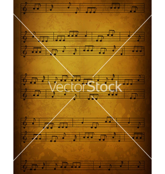 Free vintage music background vector - Free vector #266007