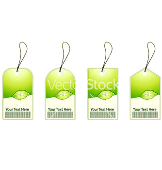 Free green shopping tags set vector - vector gratuit #266057