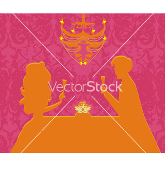 Free young couple flirt and drink champagne vector - Free vector #266697
