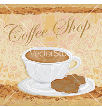 Free cup of coffee with abstract design elements vector - Free vector #266717
