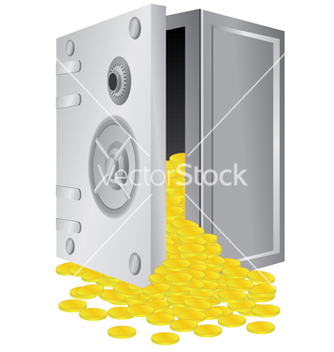 Free safe with gold vector - Free vector #266757