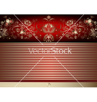 Free gold and red easter elegance card vector - Free vector #266827