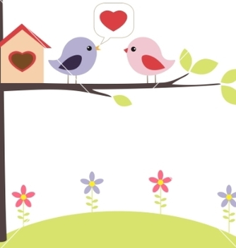 Free birds in love vector - vector gratuit #267097