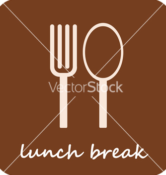 Free lunch break isolated icon on lightbrown backgro vector - vector gratuit #267157