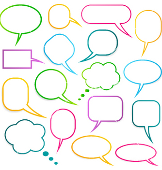 Free speech bubbles vector - vector gratuit #267217