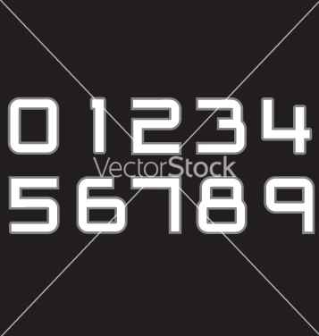 Free rugby jersey numbers vector - Free vector #267237