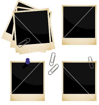 Free polaroid frame vector - vector gratuit #267907