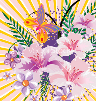 Free floral background vector - Free vector #268297