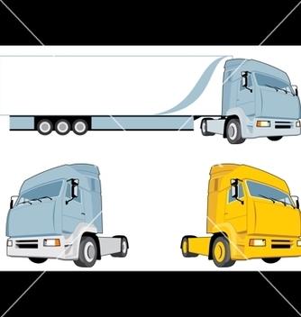 Free semi truck vector - Free vector #268717