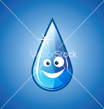 Free happy water drop vector - Free vector #268727