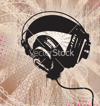 Free grunge headphones vector - бесплатный vector #268797