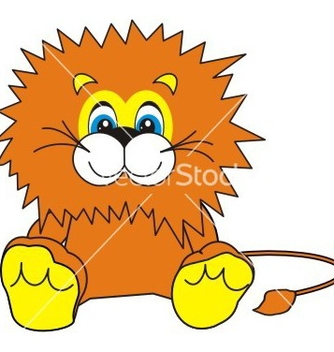 Free smiling little lion vector - Free vector #269227