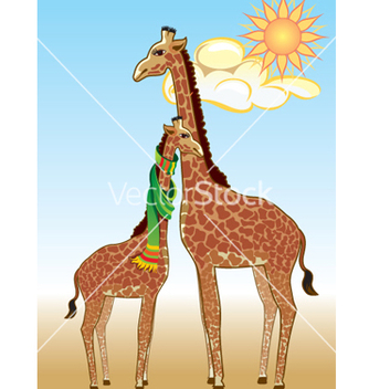 Free giraffes vector - бесплатный vector #269277