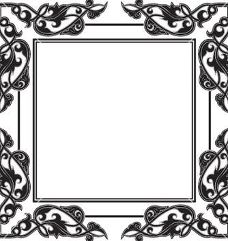 Free vintage frame vector - Kostenloses vector #269377