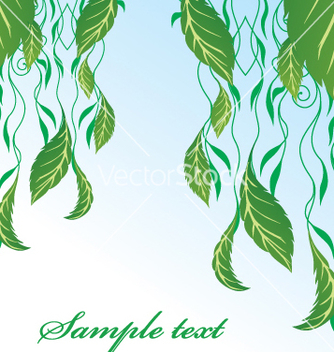 Free hanging leaves vector - бесплатный vector #269487